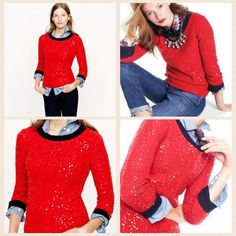 Blogger FAV! Sold Out J. Crew Sequin Sweater Coming soon!!! Blogger FAV! Sold Out J. Crew Sequin Sweater. Pics taken from J. Crew's photo archives. Perfect condition. Please ask any and all questions prior to purchasing. If you need more pics, just ask!  J. Crew Sweaters