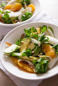 Verveine Pêche: Salade