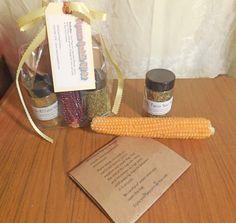 Popcorn Cob with two Jars Salt-free Popcorn Seasoning Sprinkles Gift Set - Original and Cheesy