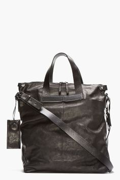 MARSÈLL Black Leather Tote
