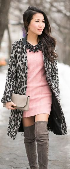 French Connection Leopard Coat by Wendy's Lookbook