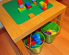 DIY Lego Table via IKEA Hackers.