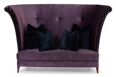 Christopher Guy Purple Velvet Love Seat... I can already see this in my new store!