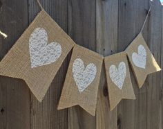 Items similar to Hearts Burlap and Lace Banner / Valentine's Day Decoration on Etsy House Party Decorations, Valentines Day Decorations, Alpillera Ideas, Banner, Interior Color Schemes, Deco Boheme, Shabby Chic Bedrooms, Diy Clay, Colorful Interiors