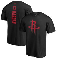 Men's Houston Rockets James Harden Black Backer2 T-Shirt