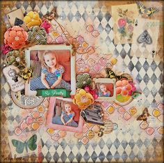 Carta Bella- Yesterday collection. Hello! My Creative Scrapbook revealed all their beautiful February kits and I share with you today two of the projects that I created wit...