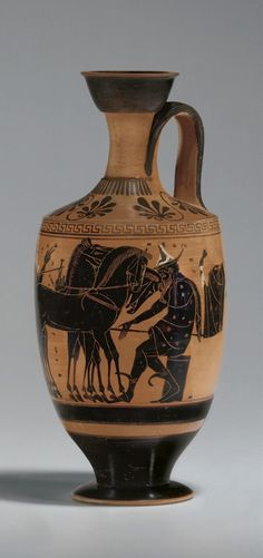ETRUSCAN BLACK-FIGURED LEKYTHOS CIRCA 500 B.C.