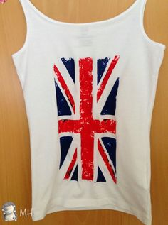 Camiseta Bandera Inglesa con Plastidecor, Tutorial