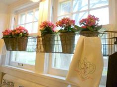 diy window treatments - Google Search too cute can put up more kitchen towels for a cute window treatment