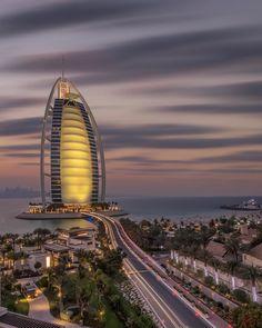 Burj Al Arab Dubai - Dubai Travel Destinations Photography Honeymoon Backpack Backpacking Vacation Middle East Budget Bucket List Wanderlust Dubai Skyscraper, Dubai City, Dubai Uae, Places To Travel, Travel Destinations, Places To Visit, Wonderful Places, Beautiful Places, Middle East Destinations