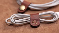 How to Make Your Own Leather Cable Holder | DIY Projects