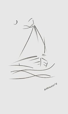 Simple Sailboat Drawing by Mario Perez | Projects to Try ...