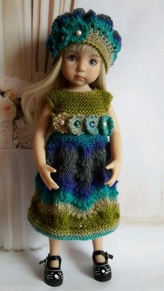 "OOAK Outfit for doll 13"" Dianna Effner Little Darling)collection winter gradient #DiannaEffner"