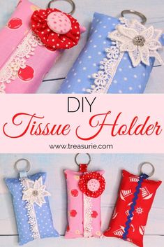 y tissue pack Free Printable Sewing Patterns, Sewing Patterns For Kids, Free Sewing, Sewing Ideas, Small Sewing Projects, Sewing Crafts, New Things To Try, Tissue Holders, Fabric Scraps