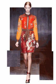 Gucci SS15 – one of Dazed fashion editor Emma Wyman's favourite MFW collections. More GIFs here: http://www.dazeddigital.com/fashion/article/21874/1/editors-top-five-picks-milan