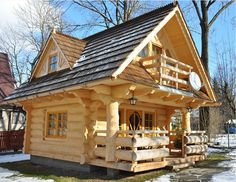 Log homes are one of the most resistant types of home and they are also very affordable. For centuries, people around the world have been living in log homes and they seem to be quite popular nowadays too. This next cute tiny log home would be perfect for a small family who has a love for rustic and traditional designs. The log house has been made of the highest quality wood, so it can resist in any weather condition for a long period of time. Living in a log home, also brings you closer to…