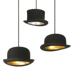 Innermost Jeeves Bowler Hat Pendant (best name for a lampshade EVER) £155