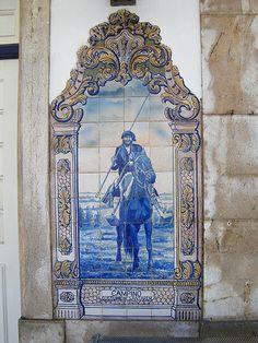 Painel de Azulejos: Campino, Costume de Santarém, Portugal - Sanatrém por valeriodossantos, no Flickr