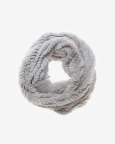 Jocelyn Long Infinity Fur Scarf