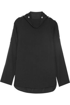 THEORY Brilivna silk crepe de chine blouse. #theory #cloth #tops