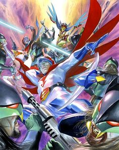 Alex Ross team in action art