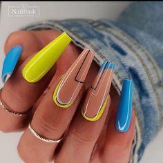 Chic Nails, Stylish Nails, Trendy Nails, Swag Nails, Fabulous Nails, Gorgeous Nails, Perfect Nails, Ongles Bling Bling, Neon Green Nails