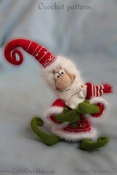 Project by oxana23 Father Christmas Toy Made using Santa Claus crochet pattern by Borisenko for LittleOwlsHut #LittleOwlsHut, #Amigurumi, #CrochetPattern, #Borisenko