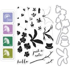 Hero Arts Color Layering ORCHID IN A POT BUNDLE SB103 Preview Image