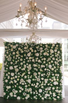 Floral ceremony backdrop; Malaparte wedding downtown Toronto; PHOTOGRAPHY Joel + Justyna Bedford;