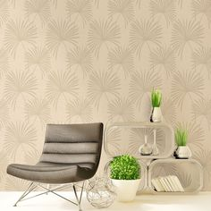 Crown Tropicana Palm Wallpaper - Natural - http://godecorating.co.uk/crown-tropicana-palm-wallpaper-natural/