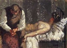"""""""The Camden Town Murder""""- Walter Sickert (1860-1942), 1908 """"What Shall We Do About the Rent"""""""