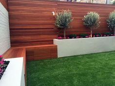 47 Ideas raised garden seating area fence for 2019 No Grass Backyard, Backyard Fences, Backyard Landscaping, Patio Decks, Backyard Privacy, Landscaping Ideas, Backyard Shade, Backyard Lighting, Landscaping Software