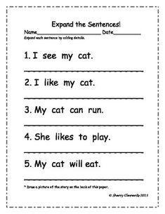 Expand the sentences by adding details to each sentence - 6 sentences - $