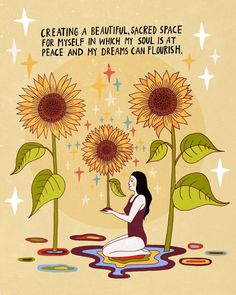 Creating a beautiful sacred space for myself in which my soul is at peace and my dreams can flourish. Pretty Words, Beautiful Words, Beautiful Space, Positive Vibes, Positive Quotes, Affirmations, Beau Message, Arte Sketchbook, Self Love Quotes