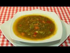 Recetas de cocina con sabor tradicional: Sopa de lentejas con verduras receta fácil