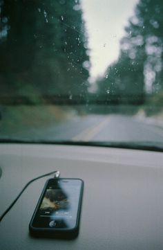 music & a rainy drive.