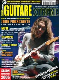 Guitare Xtreme 14 : ohn Frusciante – Red Hot Chili Peppers  Damon Johnson Sebastien Lefebvre - Simple Plan  Mattiew Bellamy – Muse  Philippe Almosnino – Les Wampas  Justin Burford - End Of Fashion Gary Moore  Joe Satriani Amadou et Maryam  Ueberschall The Resource DigiTech EX-7 Expression Factory Genz-Benz El Diablo 100 Korg AX3G Laney VC15 Peavey ValveKing VK112 Marshall pédales RG-1, EH-1 & RF-1 Vox Pédales Cooltron Snake Charmer Compressor & Over The Top Boost Wayne Meanie Green Zoom…