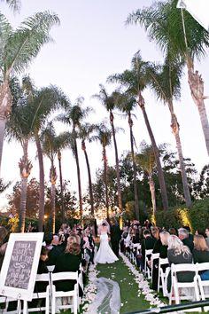 Outdoor Wedding Ceremony At Muckenthaler Mansion