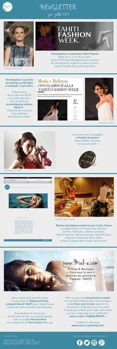 First newsletter Activité des bijoux Miel.A pour le mois de juin 2014 www.miel-a.com