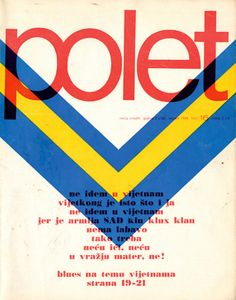 Polet, 1976-1980s #Yugoslavia s music magazine that featured and focused on New Wave music coming from the former republic. It was published weekly and originated in #Zagreb.