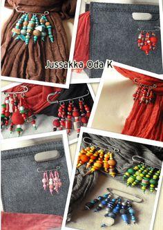Hakaneulakoruista on moneksi. Materiaaleina erilaisia helmiä, huopapalloja, poronsarvinappuloita... https://www.facebook.com/pages/JUSSAKKA-Oda-K/173696896121402