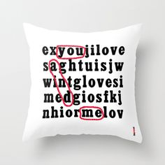 Pillow case Cushion Cover Pillow Cover You and me. $38.00, via Etsy.