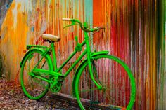 """Go Green by Todd Van Fleet - No bike should spend its life on the sidewalk. That's why Todd Van Fleet rescues bikes, """"Snapping the shutter is the easy part. Finding the bikes is where the real adventure begins."""" Toddrescues old cruiser bikes from the corners of barns, sheds, and attics; then straps them to his back and hikes to far-flung, lonely landscapes giving each bike a story in a photo.Todd's ...Click any image and read more and see more. Tags: bike,bikes,cycling,bicycling,riding,"""