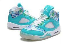 Girls Air Jordan 5 GS Blue Cherry Blossom For Sale-1