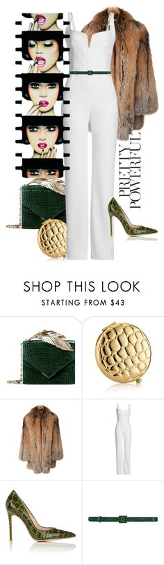 """Untitled #12"" by nineteen-80-foe ❤ liked on Polyvore featuring RALPH & RUSSO, Estée Lauder, Michael Kors, Galvan, Gianvito Rossi, Oscar de la Renta, Anja and AlligatorSkin"