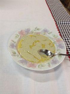 Polenta com gorgonzola, feita numa segunda durante a aula de costura!