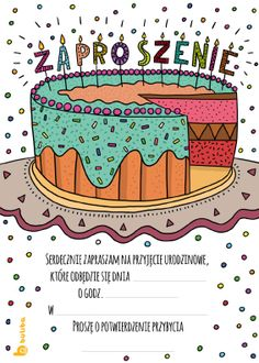 Zaproszenie Urodzinowe Do Wydruku Z Misiem W Czapeczce Urodzinowej