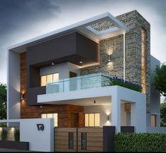 27 Best of Minimalist House Designs [Simple, Unique, and Modern] - casitaandmanor Best Modern House Design, Modern Exterior House Designs, Bungalow House Design, House Front Design, Minimalist House Design, Small House Design, Exterior Design, Modern Villa Design, Modern House Facades