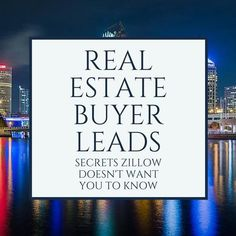 real estate buyer leads