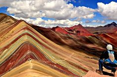 Did you know that Rainbow Mountain Peru is more than 5000 m. The snowy peaks in the mountainous region of Ausangate Peru are all of a rare color. But none is as wonderful as Vinicunca, also known as Rainbow Mountain in Cusco. Day Hike, Day Trip, Rainbow Mountain Cusco, Rainbow Mountains, Vacation List, Instagram Worthy, Over The Rainbow, Day Tours, Places To See